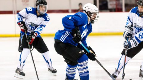 A Lynn ice hockey player during the 2019-2020 opening game
