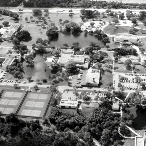 Aerial shot of bbin宝盈集团 many years ago